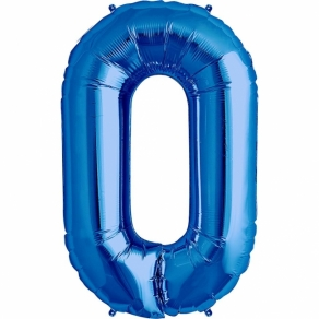 Numerofoliopallo 0 sininen, 86cm