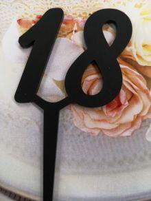 18 kakkukoristetikku, musta