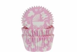 Baby muffinssivuoat 50kpl/pkt, vaaleanpunainen