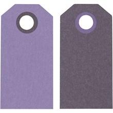 Kartonki etiketti tummavioletti/violetti 20kpl/pkt