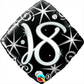 Säkenöivä musta-hopea 18 perusfoliopallo