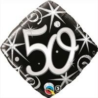 Säkenöivä musta-hopea 50 perusfoliopallo