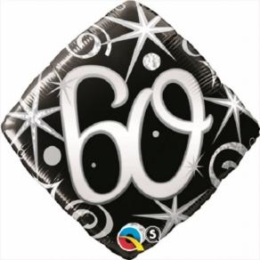 Säkenöivä musta-hopea 60 perusfoliopallo