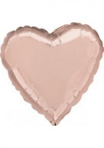 Ruusukultainen sydän foliopallo