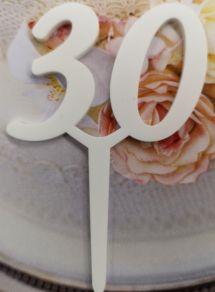 30 kakkukoristetikku, valkoinen