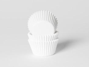Mini-muffinssivuoka 60kpl/pkt, valkoinen