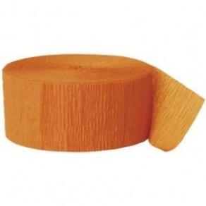 Kreppipaperirulla oranssi 25m