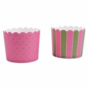Muffinssikupit pinkki-vihreä 12kpl