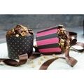 Muffinssikupit musta-pinkki 12kpl