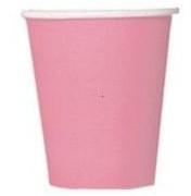 Pahvimukit 8kpl/pkt, vaaleanpunainen