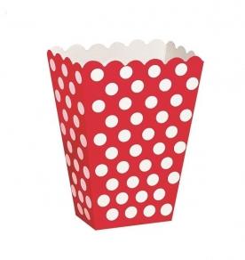 Naksulaatikko Dots 8kpl/pkt, punainen
