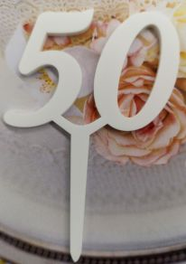 50 kakkukoristetikku, valkoinen