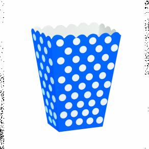 Naksulaatikko Dots 8kpl/pkt, sininen