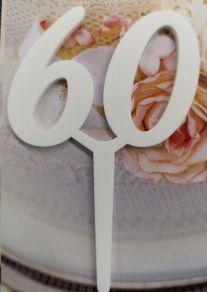 60 kakkukoristetikku, valkoinen