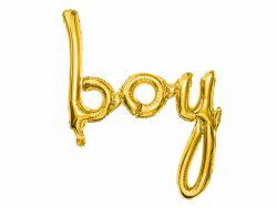 Boy puhallettava kultainen foliopallo