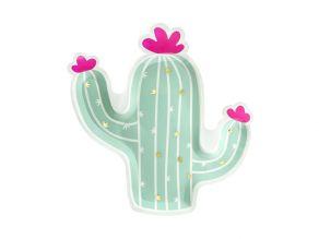 Pahvilautaset Cactus mix, 6kpl/pkt