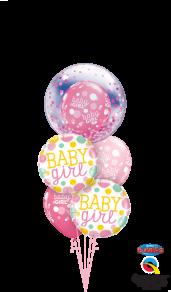 Decobubble, pink confetti dots