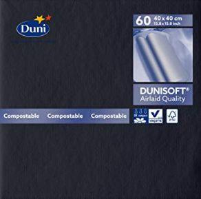 Dunisoft 40x40cm lautasliina 60kpl/pkt, musta