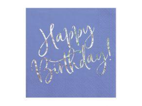 Happy Birthday lautasliina sininen