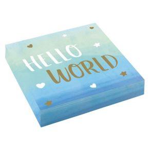 Oh Baby Hello World lautasliinat vaaleansininen 16kpl/pkt