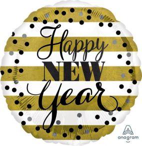 Happy New Year raidat perusfoliopallo