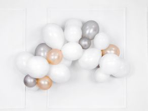Kumipallot 10kpl/pss, pastel pure white