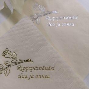 Lautasliina rippiruusut 20kpl/pkt