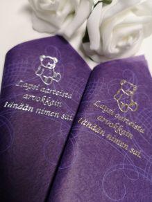 Havin kahviliina violetti painettuna