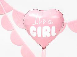 It's a girl vaaelanpunainen sydän foliopallo