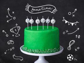 jalkapallo kakkukynttilät