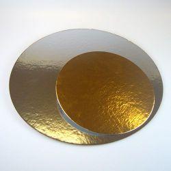 Kakkupahvi kulta/hopea ø 26cm