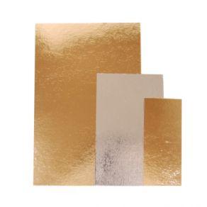 Kakkupahvi kulta/hopea neliö 30x30cm