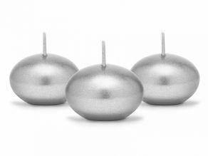 Kelluvat kynttilät 50kpl/pkt hopea