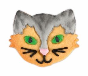 Kissan kasvot pikkuleipämuotti