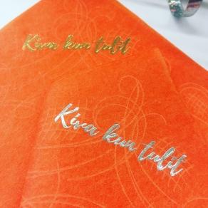 Kiva kun tulit koristeliina 20kpl/pkt, oranssi