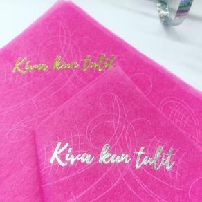 Kiva kun tulit koristeliina 20kpl/pkt, pinkki