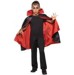 Lasten kääntöviitta vampyyri musta/puna
