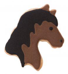 Hevosenpää pikkuleipämuotti 7,5cm.