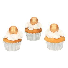 Fun Cakes kultainen suklaapallo 8kpl/pkt