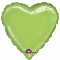 Vihreä sydän foliopallo