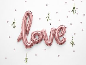 Love puhallettava foliopallo, ruusukulta
