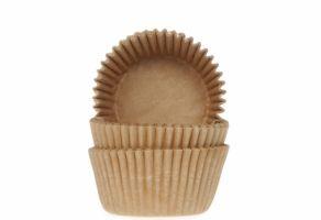 Mini-muffinssivuoka 60kpl/pkt, vaaleanruskea