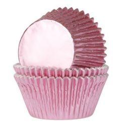 Minimuffinssivuoka foil Baby pink 36kpl/pkt