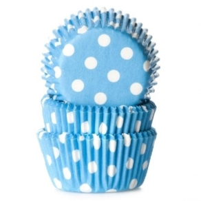 HoM Muffinssivuoka dots 50kpl/pkt, aqua blue