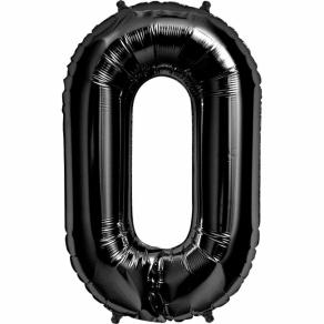 Numerofoliopallo 0 musta  86cm