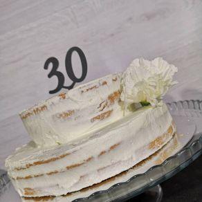 30 kakkukoristetikku, musta