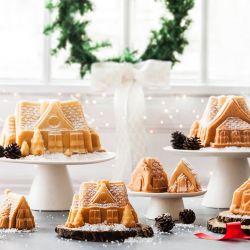 Nordic Ware Gingerbread house Duet kahvikakkuvuoka