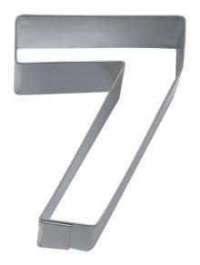 Numero 7 pikkuleipämuotti