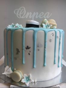 Onnea kakkukoristetikku, valkoinen