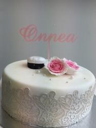 Onnea kakkukoristetikku, vaaleanpunainen